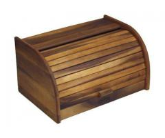 Wooden and Stainless Steel Bread Box | Mountain Woods