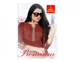 Biggest B2B Supplier of MINU MANINI Rayon kurti Premium