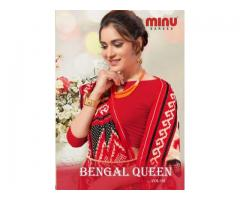 Biggest B2B Supplier of Cotton Printed Bengal Queen 2 Saree