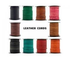 Buy round leather cord 1.5 mm in USA