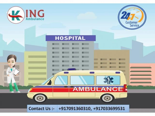 Use Awesome Emergency Road Ambulance Service in Dumka by King