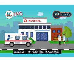 Select Renowned Road Ambulance Service in Ramgarh by King