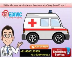 Tremendous ICU Support Road Ambulance Service in Buxar by Medivic