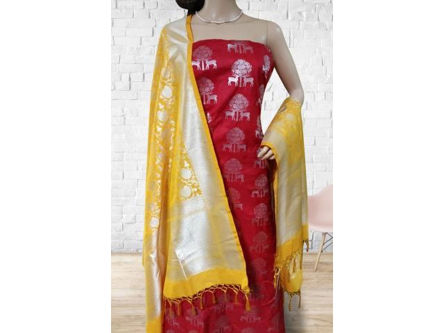 Banarasi Suit | Banarasi Georgette Silk Suit | Luxurionworld