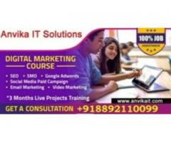 Digital marketing Course with job 100% only 10 seats.
