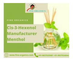 Cis-3-Hexenol Manufacturer Menthol | FINEORGANICS
