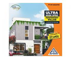 Luxury villa plots off sarjapur road