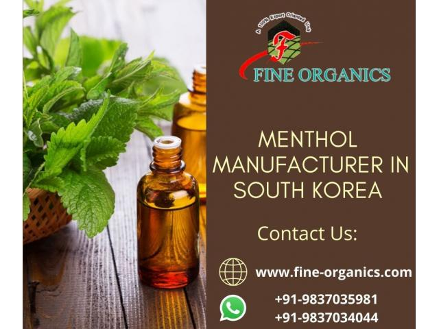 Menthol Manufacturer in South Korea - fineorganics