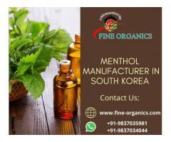 Menthol Manufacturer in South Korea - fineorganics