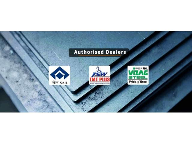 SAIL,JSW,VIZAG,TMT Steel and Cement Dealers in Bangalore.