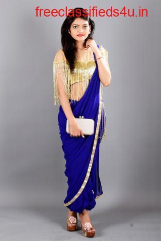 Shop Drape Saree with Blouse Online
