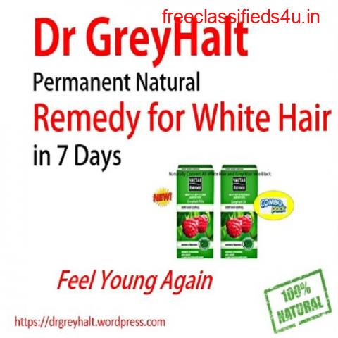 Dr GreyHalt How To Make More Treatment Black Hair for Grey and White Hair Premature Problem