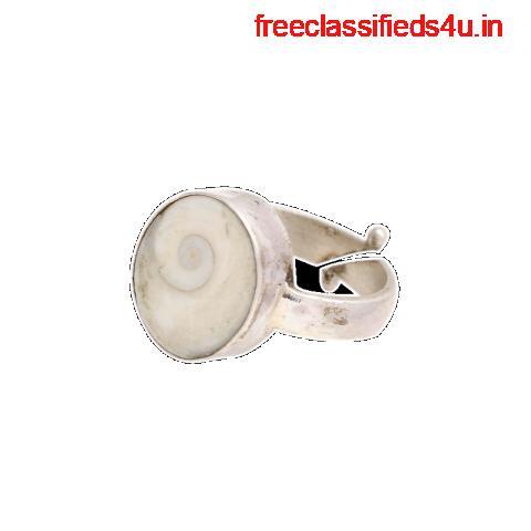 Silver Natural Gomthi Chakra Ring 100% original Gomti Chakkra