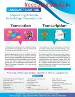 Data Entry Transcription Translation Manpower supply Outsourcing Services