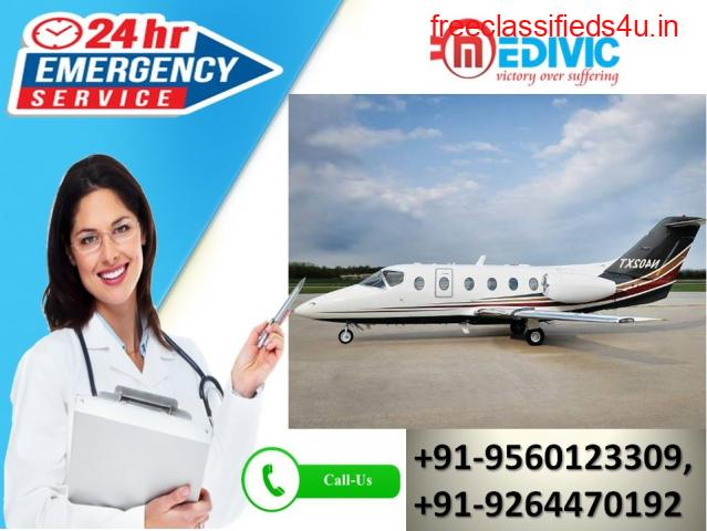 Use Astonishing Life Server Air Ambulance Services in Jabalpur by Medivic