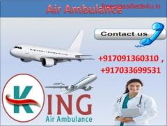 Pick Low Fare Air Ambulance Service in Patna by King with Medical Team