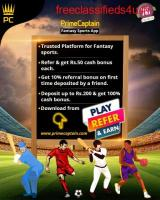 Play Fantasy Sports on Prime Captain - Refer & earn on every cash deposit by Friends