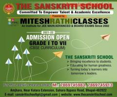 Admission Open In Bhopal For The Sanskriti School.