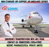 Use First-Class ICU Air Ambulance Services in Bhopal by Medivic