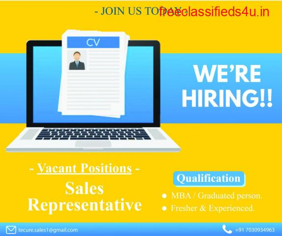 We are hiring Sales Representative to work from your preferred city