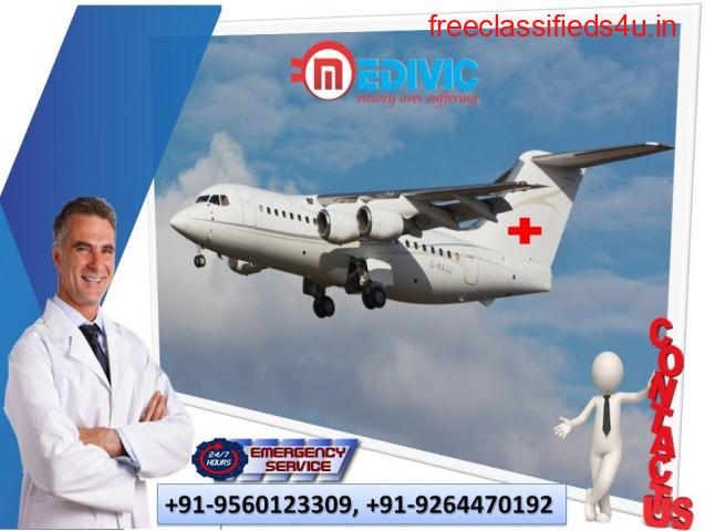 Select Most Conspicuous Air Ambulance Services in Bhavnagar by Medivic