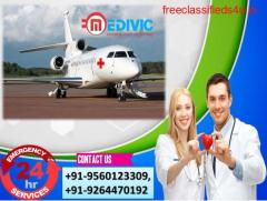 Take Influential Air Ambulance Services in Bokaro by Medivic Aviation