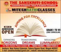 The Sanskriti School, Best Cbse School, Admission Open in Bhopal