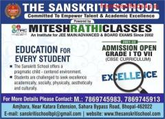 Best school in Bhopal, The Sanskriti School, Admission Open.