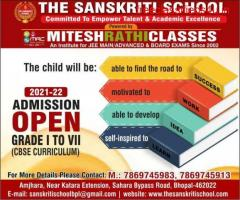 Admission open for grade I to VII in The Sanskriti School.