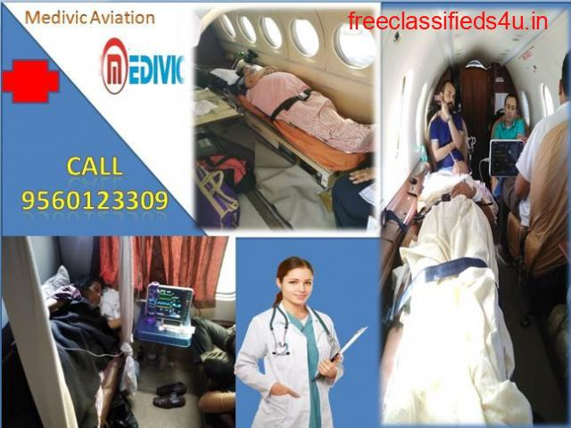 Low Cost Medivic Air Ambulance in Delhi with Medical Team
