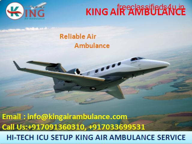 ICU Facility Air Ambulance Services in Dibrugarh Available by King Ambulance