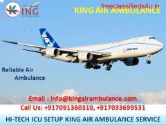 Take Safest Emergency Air Ambulance Services in Kolkata by King Ambulance