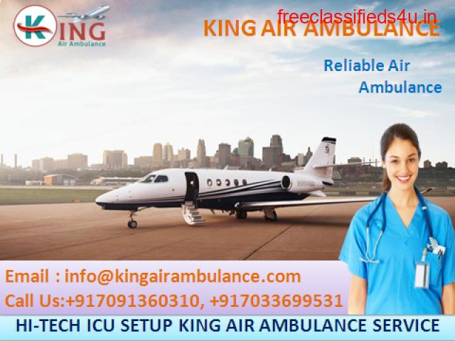 Take Instant Patient Shifting Air Ambulance Services in Ranchi by King