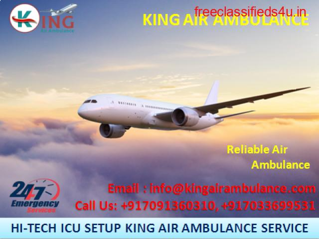 Choose Topmost ICU Air Ambulance Services in Patna by King Ambulance