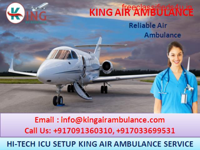 King Air Ambulance Services in Delhi Easily Available for Patient Relocation