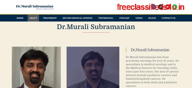 Best Breast Cancer Doctor in Bangalore   Dr.Murali Subramanian