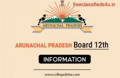 ARUNACHAL PRADESH BOARD 12TH APPLICATION FORM