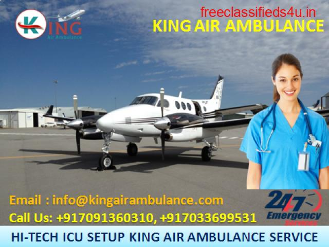Get Outstanding Air Ambulance in Guwahati Instantly by King Ambulance