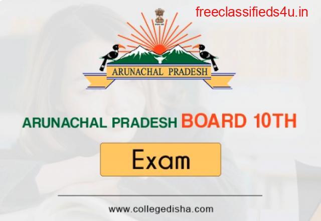 ARUNACHAL PRADESH BOARD 10TH ADMIT CARD