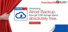 Aircel Coupons Deals and Offers Free 2 GB storage space with aircel backup