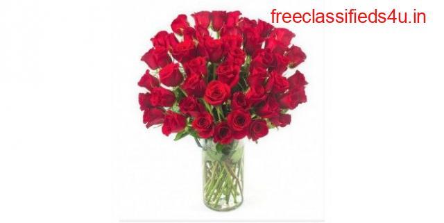 Order Online Premium 40 Red Roses Bouquet