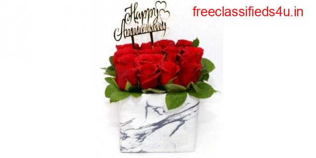 Order Anniversary Special- Red Roses Box Bouquet