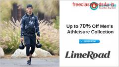 LimeRoad Coupons, Deals, sales , and Codes: Up to 70% Off Men's Athleisure Collection