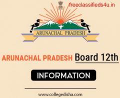 ARUNACHAL PRADESH BOARD 12TH SYLLABUS