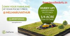 Visit Melmaruvathur for some of the finest agricultural lands for sale