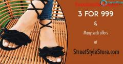 StreetStyleStore Coupons, Deals & Offers: Buy 3 Flat Footwear for Rs.999