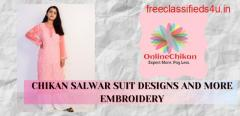 Chikan Suit Latest Design -  Lucknowi Chikankari - Chikankari Saree