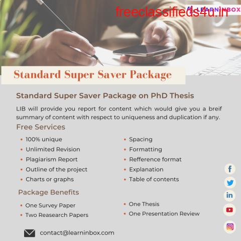 Standard Super Saver Package on PhD Thesis
