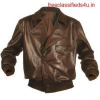 Barnstormer Leather Bomber Jacket