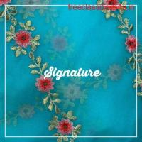 Buy Deep Sky Blue Organza Fabric  With Thread and Floral Embroidery at MK SIGNATURE Groom and Bride